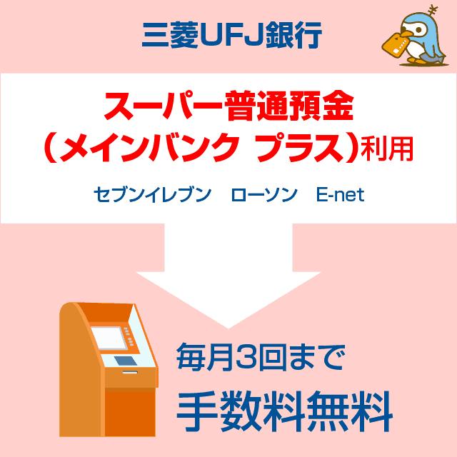 三菱東京UFJ銀行ATM手数料