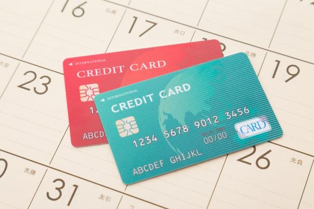 クレジットカードとカレンダー
