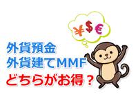 外貨建てMMFと外貨預金の違い!サルでもわかるMMF入門