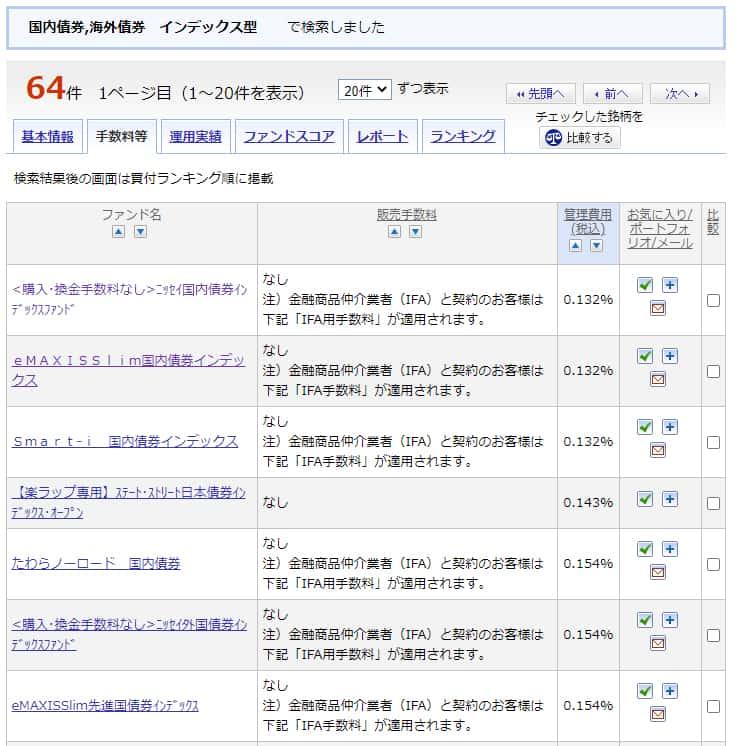 楽天証券スーパーサーチの検索