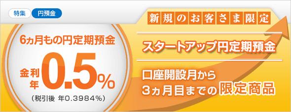 スタートアップ円定期預金