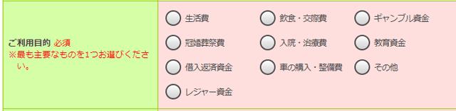 三井住友銀行カードローン 申込画面サンプル